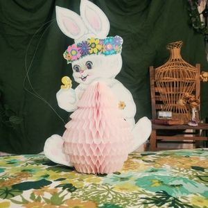 ADORABLE vintage accordion Easter bunny.